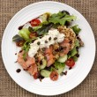 Smoked Salmon Salad with Potato Rosti — Stock Photo