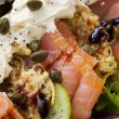 Smoked Salmon Salad with Potato Rosti — Stock Photo #11965394