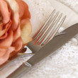 Place Setting with Flower and Lace — Stock Photo #12199540