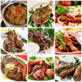Meat Meals Collection — Stock Photo