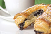 Poppy Seed Pastry and Coffee — Stock Photo