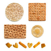 Crackers Collection over White — Stock Photo