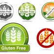 Stock Vector: Gluten free food labels collection