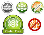 Gluten free food labels collection — Stock Vector