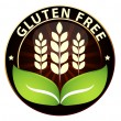 Stock Vector: Wheat/gluten free badge