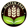 Wheat/gluten free badge — Stock Vector