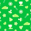 Seamless pattern of green color with the theme of childhood — Stock Photo