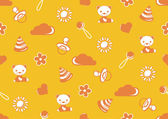 Seamless pattern of orange color with the theme of childhood — Stock Photo