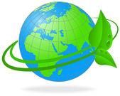 Dünya gezegeni ekolojisi — Stok Vektör