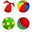 Set  of beach balls — Stock Vector