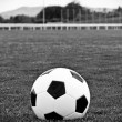 Soccer black and white — Stock Photo