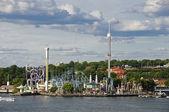 Amusement park (Gröna lund) in Stockholm, Sweden — Stock Photo