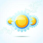 Daisy bubble background — Stock Vector