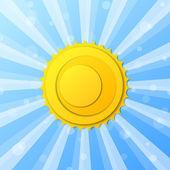 Vector achtergrond met zon — Stockvector