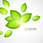 Vector eco background — Stock Vector