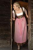 Dairymaid w gospodarstwie — Zdjęcie stockowe