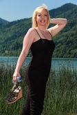 мода на озере — Стоковое фото