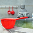 Red bucket - Stock Photo