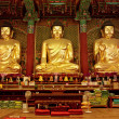 Golden Buddha in Jogyesa temple (Seoul) — Stock fotografie