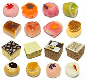 Collection of korean traditional cakes — Stock Photo