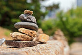 Small stone cairn — Stock Photo