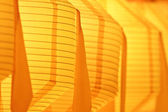 Closeup of yellow paper lantern — Stock Photo