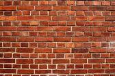 Kırmızı tuğla duvar — Stok fotoğraf