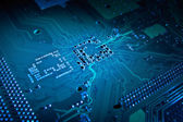 Computer motherboard abstract background — Stock Photo