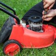 Lawn mower repair — Stock Photo