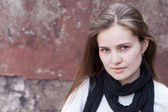 Portrait pretty young woman — Stock Photo