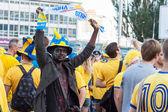 Fans von der schwedischen nationalmannschaft — Stockfoto