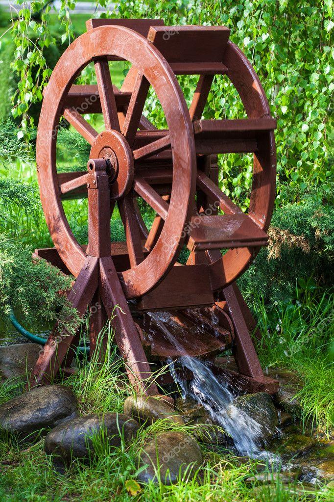 Водяная мельница для сада своими руками