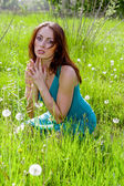 Young woman praying — Stock Photo