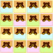 Foto Stock: Baby Brown Bear Seamless Pattern