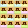 Stock Photo: Baby Brown Bear Seamless Pattern