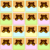 Baby Brown Bear Seamless Pattern — 图库照片