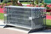 Metal barriers — Stock Photo