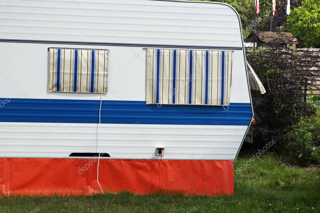 Caravan camping, in France — Stock Photo #11803132