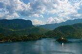 Island on the lake — Stock Photo