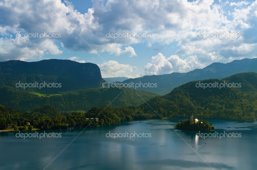 The photo shows a nature of Slovenia, in particular near the lake of Bled — Stock Photo #10878472