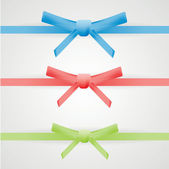 Gift bows with ribbons isolated on white — Vector de stock