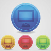 Abstract glossy jewel vector button. — Stockvektor