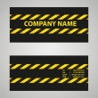 Stock Vector: Black and yellow business card