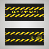 Black and yellow business card — Stock Vector
