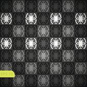 Seamless wallpaper pattern, black — Stock Vector