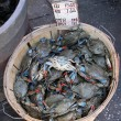 Crabs on market — Stock Photo