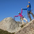 Climbers on the summit. — Stock Photo