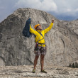 Climber celebrates on the summit. — Stock Photo #11674813