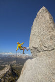 Rock climber on the edge. — Stock Photo