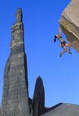 Rock climber on the edge. — Stock Photo